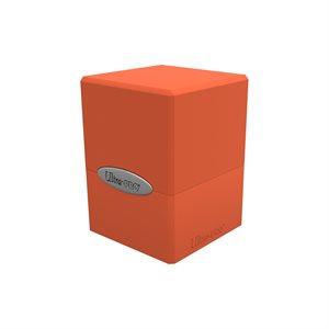 Deck Box: Pumpkin Orange Satin Cube (100ct)
