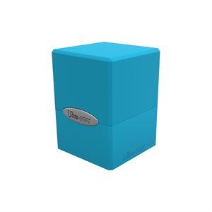 Deck Box: Sky Blue Satin Cube (100ct)