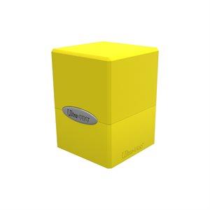Deck Box: Lemon Yellow Satin Cube (100ct)