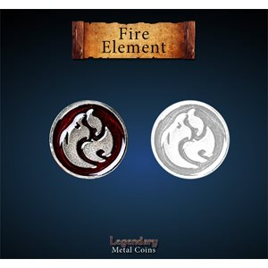 Legendary Metal Coins: Season 5: Fire Element Set (12pc)