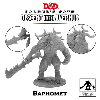 Dungeons & Dragons: Baldurs Gate: Descent Into Avernus Mini -Baphomet ^ NOV 23, 2019