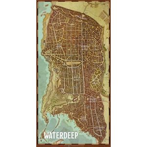 Dungeons & Dragons: Waterdeep City Map