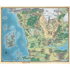 Dungeons & Dragons: Sword Coast Adventures Guide Faerun Map