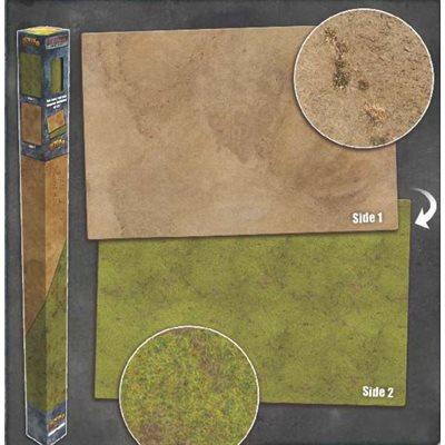 Playmat: Grassland / Desert 6' x 4' (Double Sided)