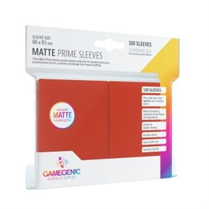 Sleeves: Gamegenic Matte Prime Sleeves: Red (100)