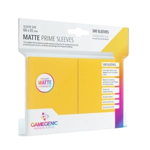 Sleeves: Gamegenic Matte Prime Sleeves: Yellow (100)