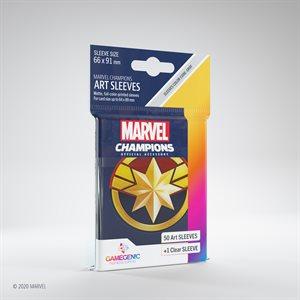 Sleeves: Marvel Champions Captain Marvel (50)