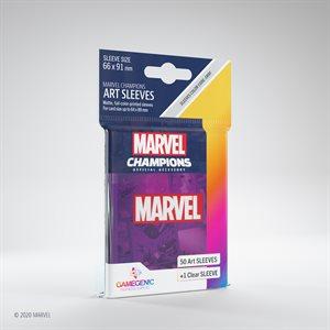 Sleeves: Marvel Champions Marvel Logo Purple (50)