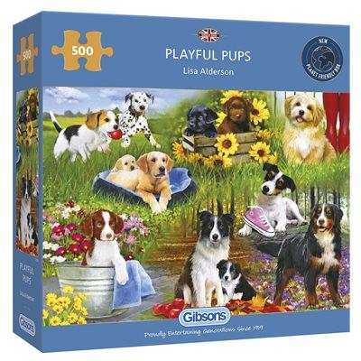 Puzzle: 500 Playful Pups