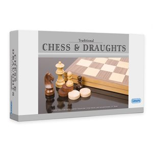 Chess and Draughts Set Folding