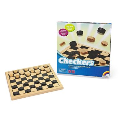 Wooden Checkers