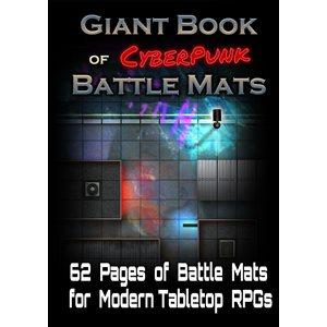 Giant Book of CyberPunk Battle Mats (No Amazon Sales)