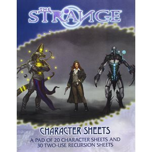 The Strange Roleplaying Game: Character Sheets (BOOK)
