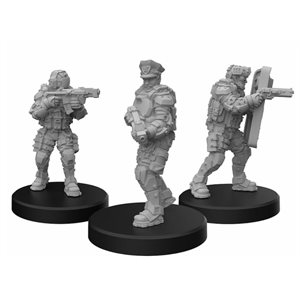Cyberpunk Red Miniatures: Lawmen A (Command) (No Amazon Sales)