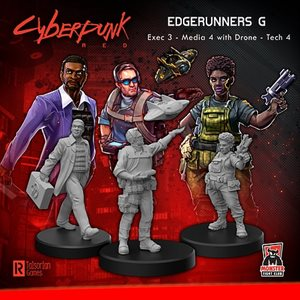 Cyberpunk Red Miniatures: Edgerunners G (Exec - Tech - Media) (No Amazon Sales) ^ SEPT 2021