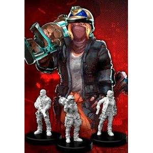 Cyberpunk Red Miniatures: Combat Zoners A (Heavies) (No Amazon Sales)