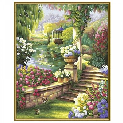 Paint by Numbers: Paradise Garden (Multi)