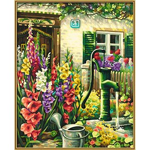Paint by Numbers: By the Village Well (Multi)