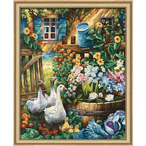 Paint by Numbers: Geese in the Garden (Multi)