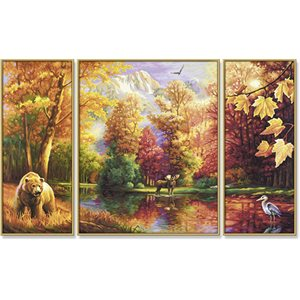 Paint by Numbers: Tryptych Indian Summer