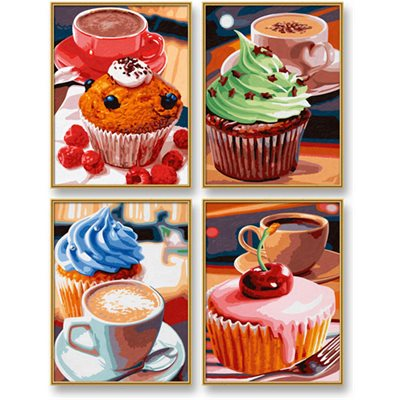Paint by Numbers: Quattro Cupcakes