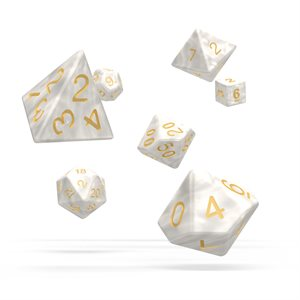 Marble: White 7pc RPG Set