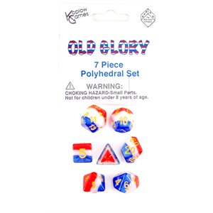 Opaque: 7Pc Polyhedral Old Glory