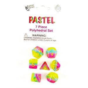 Transparent: 7Pc Polyhedral Pastel