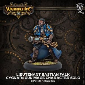 Cygnar: Lieutenant Bastian Falk: Gun Mage Solo (Metal)