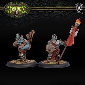 Trollbloods: Kriel Standard Bearer & Piper