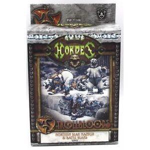 Trollbloods: Northkin Bear Handler & Battle Bears Unit (Resin / Metal)
