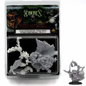 Trollbloods: Kolgrima Stonetruth, Winter Witch Warlock (Resin / Metal)