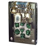 Cthulhu Dice Black & Green 7Pc