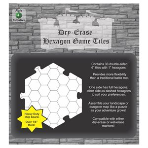 Dungeon Tiles - Pack of 33 six inch hexagons