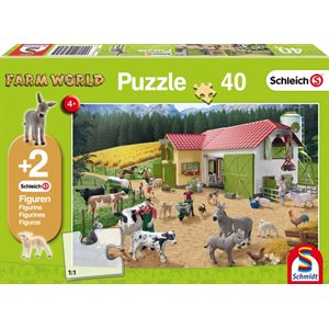 Puzzle: Child 40 Schleich A Day at the Farm