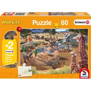 Puzzle: Child 60 Schleich At the Watering Hole