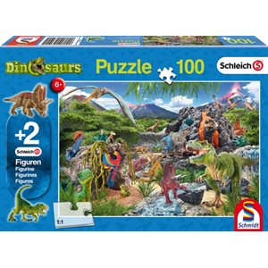 Puzzle: Child 100 Schleich Kingdom of the Dinosaurs