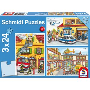 Puzzle: Child 3x24 Fire brigade and police