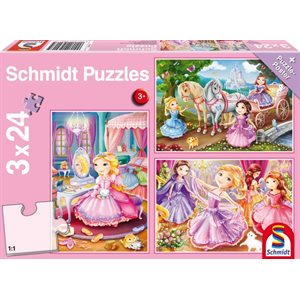 Puzzle: Child 3x24 Fairytale Princesses