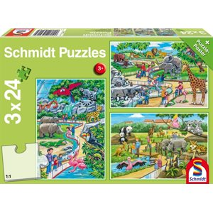 Puzzle: Child 3x24 A Day at the Zoo