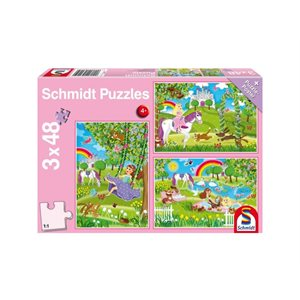 Puzzle: Child 3x48 Princess in the Castle Garden