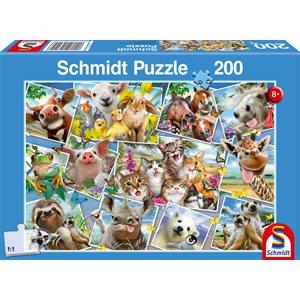 Puzzle: Child 200 Animal Selfies