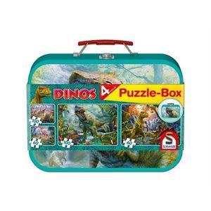 Puzzle: Child 2x60 2x100 Dinosaurs