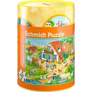 Puzzle: Child 60 Farm Coin Bank, Puzzle and Poster