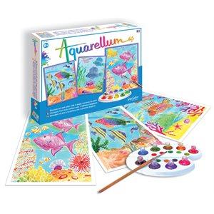 Aquarellum: Magic Canvas Large Coral Reefs (Multi) (No Amazon Sales)