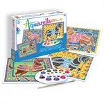 Aquarellum: Magic Canvas Large Horses (Multi) (No Amazon Sales)