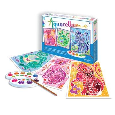 Aquarellum: Magic Canvas Large Cats (Multi) (No Amazon Sales)