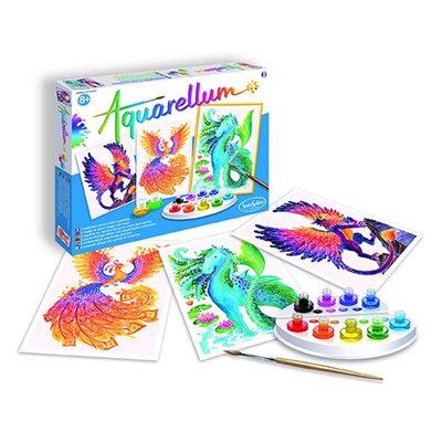 Aquarellum: Magic Canvas Large Mythical Animals (Multi) (No Amazon Sales)