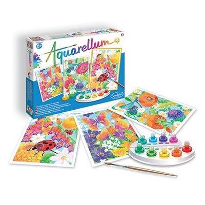Aquarellum: Magic Canvas Large In the Flowers (Multi) (No Amazon Sales)