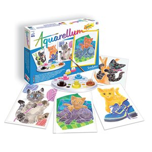 Aquarellum: Magic Canvas Junior Kittens (Multi) (No Amazon Sales)